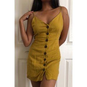 Mustard yellow cami dress tie back